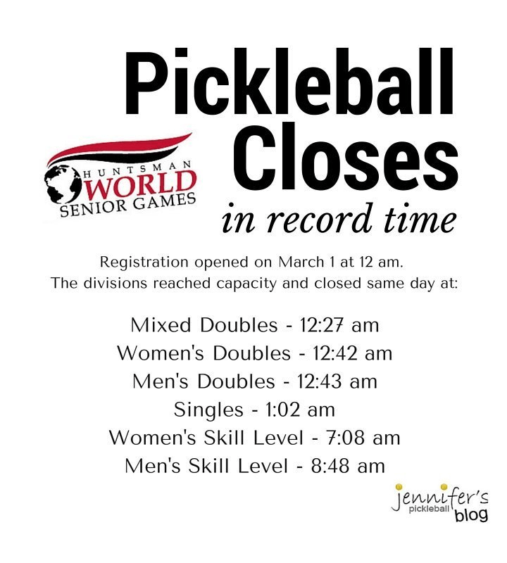 Huntsman World Games Pickleball