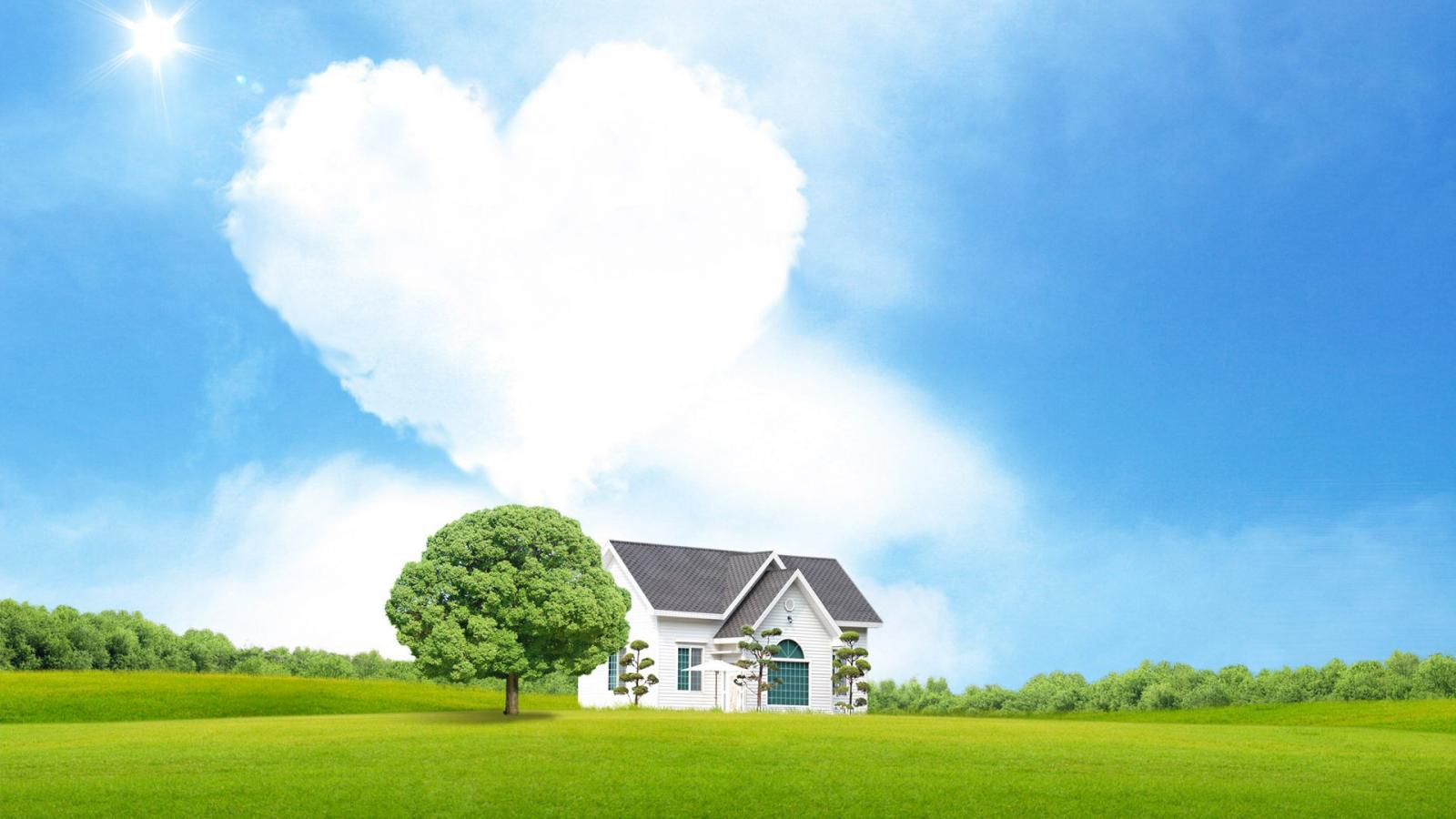 Good Morning Animation Wallpaper Heart Shaped Cloud 16 Of 57 Love Cloud And House Hd
