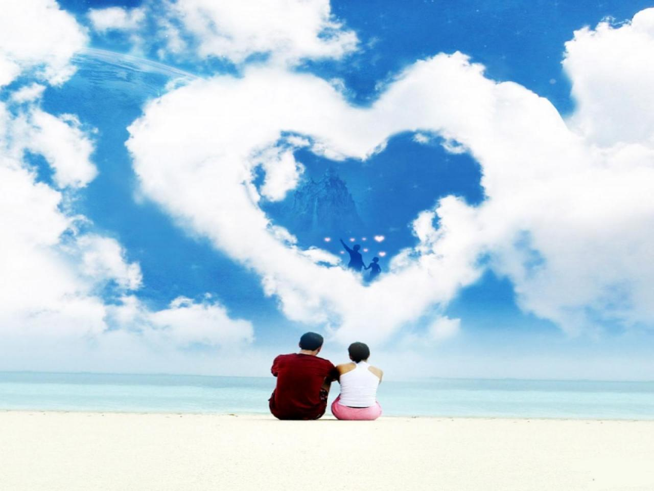 Animated Cute Wallpaper Download Heart Shaped Cloud 17 Of 57 Animated Romantic Love Cloud
