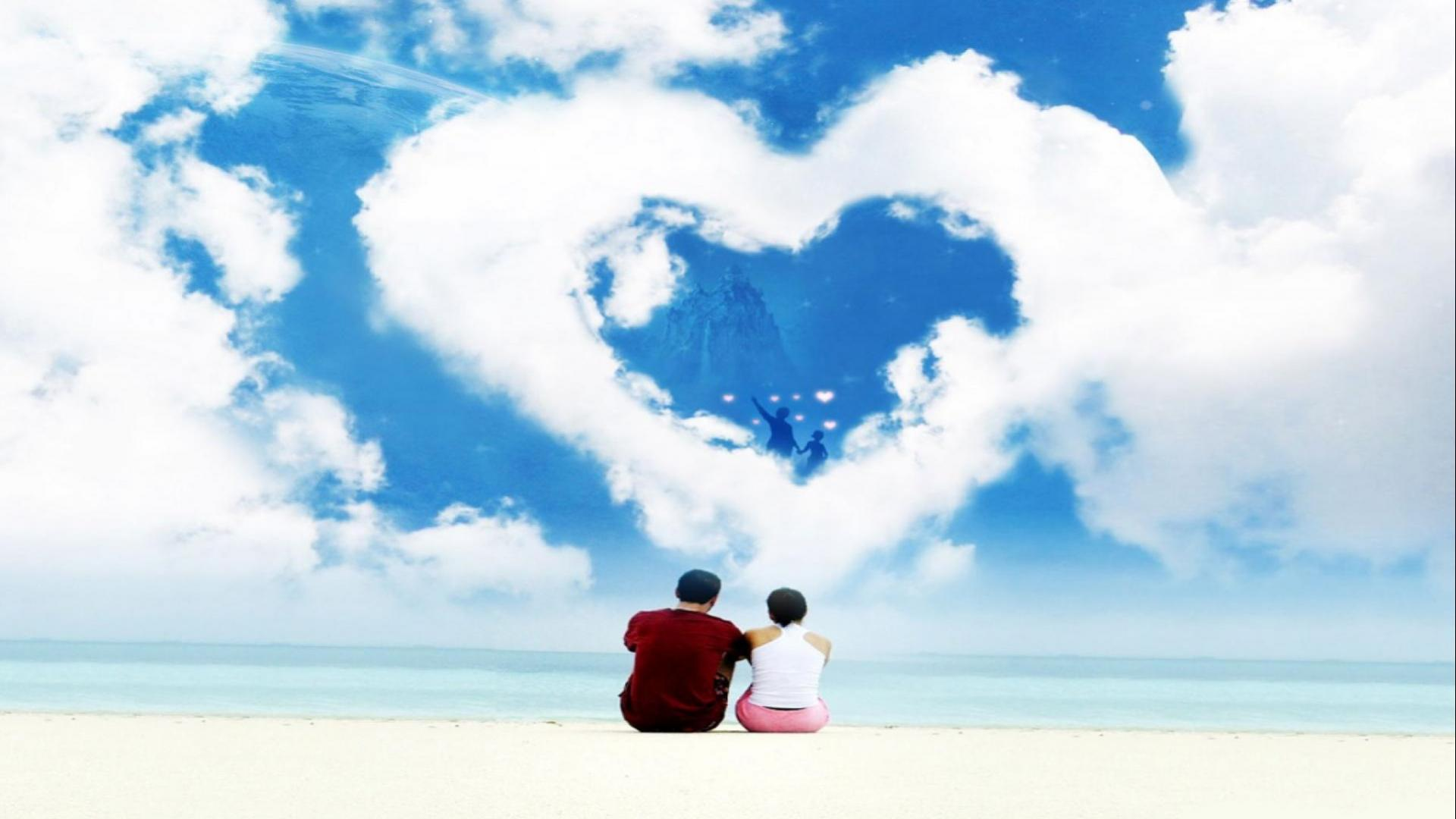 Cute Animated Dolls Wallpapers Heart Shaped Cloud 17 Of 57 Animated Romantic Love Cloud