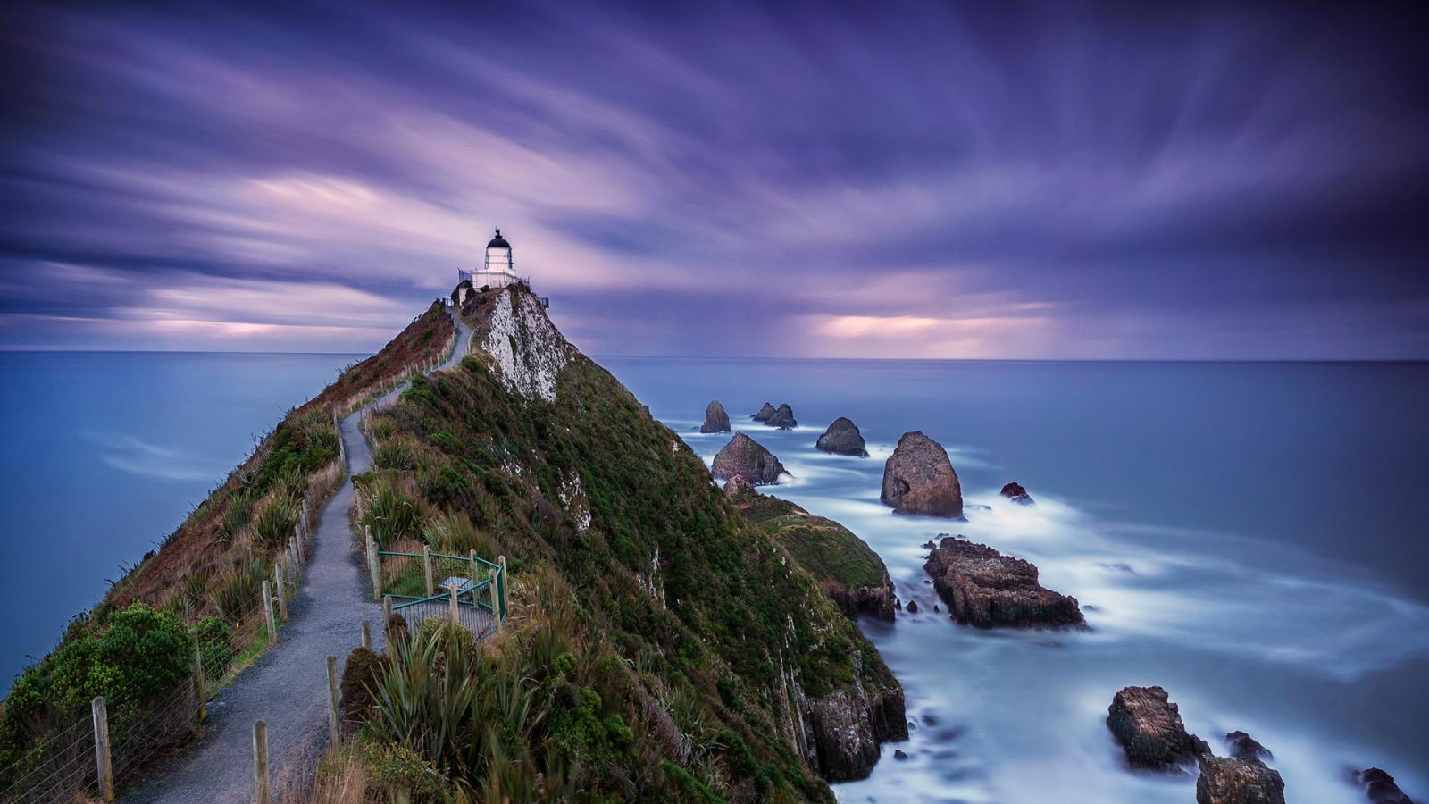Motivational Quotes Wallpapers Free Download Long Exposure Photo Of Nugget Point Lighthouse New Zealand