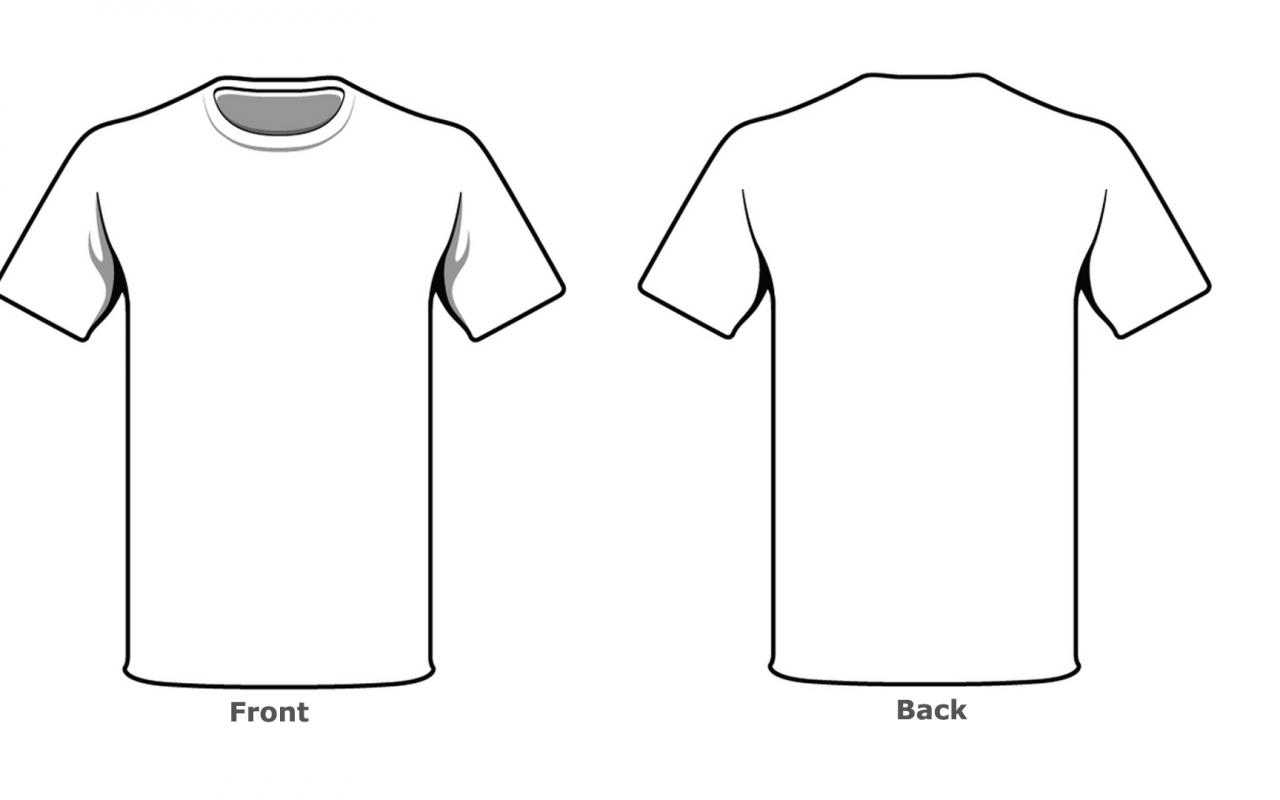 Blank Tshirt Template Front Back Side In High Resolution