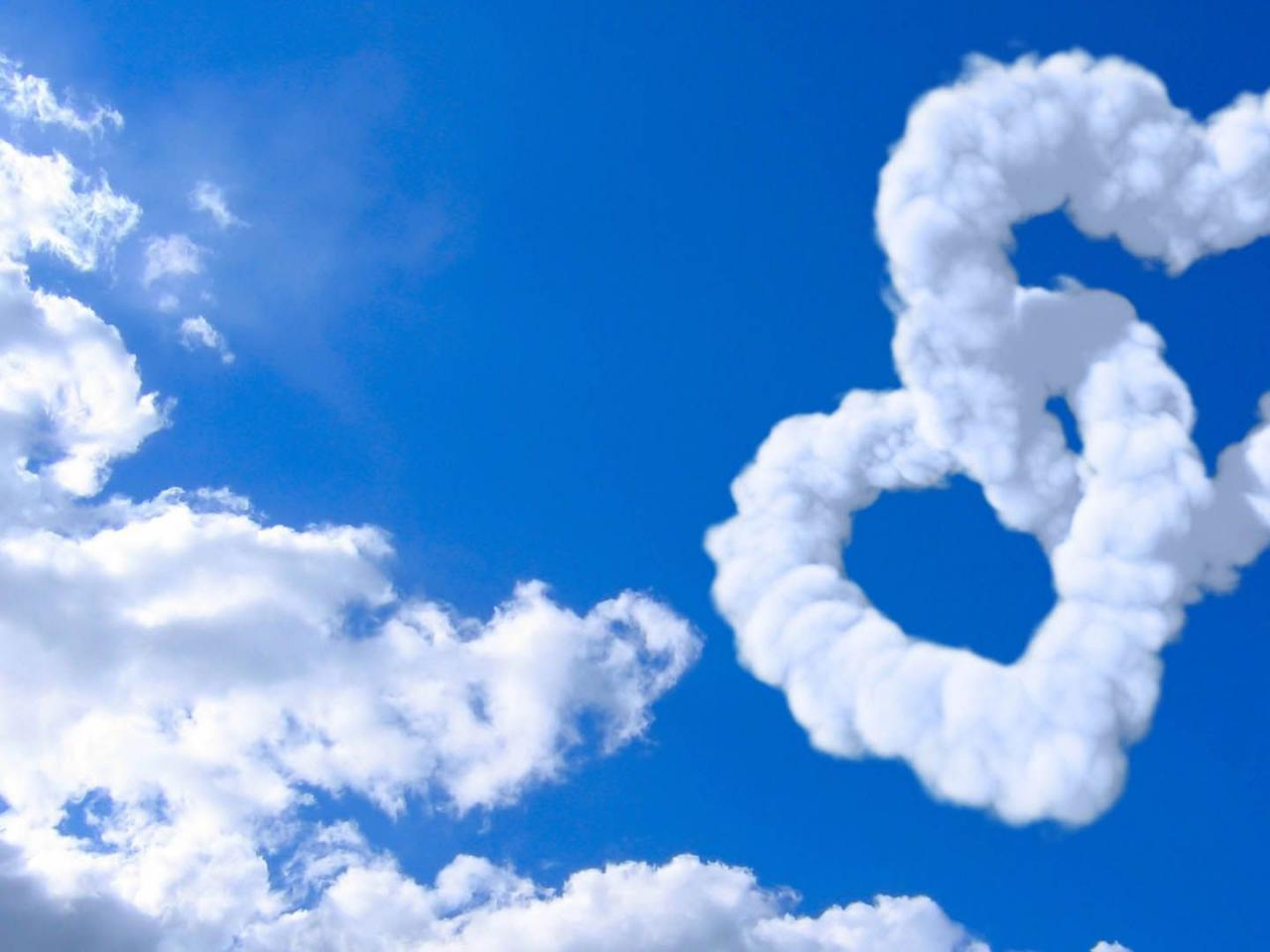 Good Morning Animation Wallpaper Heart Shaped Cloud 03 Of 57 Animated Double Heart Clouds