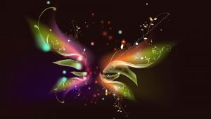 Attachment file of Free 3D abstract wallpaper with butterfly shape