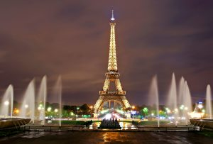 Eiffel Tower Paris at night view