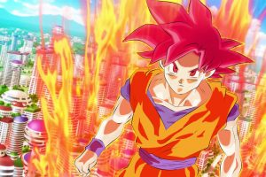 Dragon Ball Super Wallpaper - Son Goku in Super Saiyan God Transformation