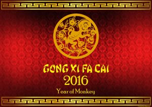 Gong Xi Fat Cai - Happy Chinese New Year 2016 Wallpaper - Year of Monkey
