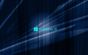 Windows 10 Wallpaper with Blue Abstract waves