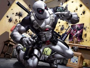 Attachment of Deadpool Comic Wallpaper - Silver Deadpool