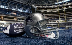 Picture of Helmet and Ball of Dallas Cowboys