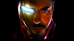 Iron Man Wallpaper - Face of Iron Man and Tony Stark (Robert Downey Jr.)