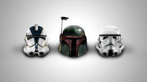 Star Wars Wallpaper 4 of 23 - Trooper and Boba Fett Helmet