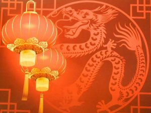 Chinese New Year background for greeting card design