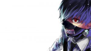 Attachment file to download for Cool Tokyo Ghoul wallpaper Kaneki Ken Mask Wallpaper with Blue Hairs