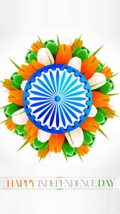 Free download of India Flag for Mobile Phone Wallpaper 16 of 17 - Tricolour Tulips