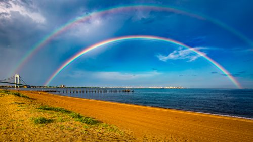 Real Double Rainbow In Staten Island South Beach Hd Wallpapers