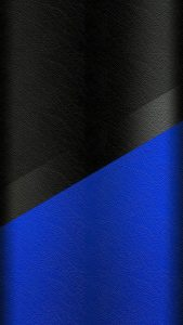 Dark S7 Edge wallpaper 02 with leather pattern in black and blue