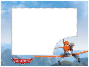 Airplane Picture Frame with Dusty Character