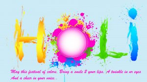 Artistic Holi Wishes in English for Wallpaper