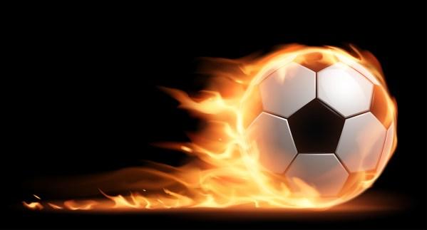 Soccer Balls Fire Hd Wallpapers