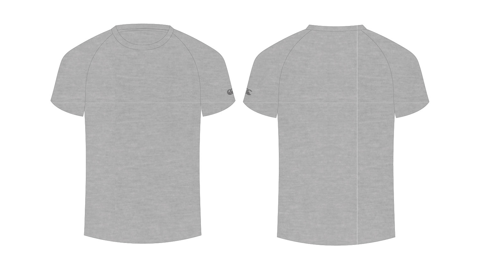Blank Tshirt Template For Classroom In Gray Color