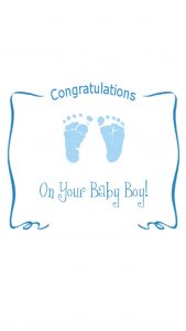 Congratulations Baby Card for Boy