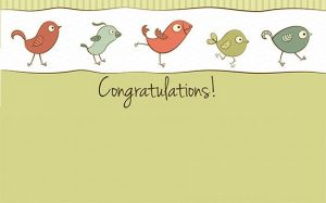 Funny Birds Congratulations Picture Frames