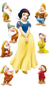 A Picture Of Snow White and The Seven Dwarfs for Android Wallpaper