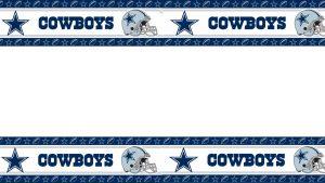 Dallas Cowboys Wallpaper Border with Stars and Helmet