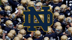 Notre Dame Fighting Irish Background in HD 1080p with Logo