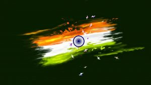 Abstract Paint India Flag for Independence Day Wallpaper in HD