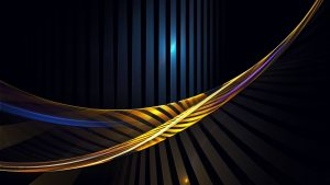 Abstract Art Using Lines in Yellow and Dark