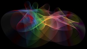 Art Wallpaper with Abstract Colorful Prismatic Lines