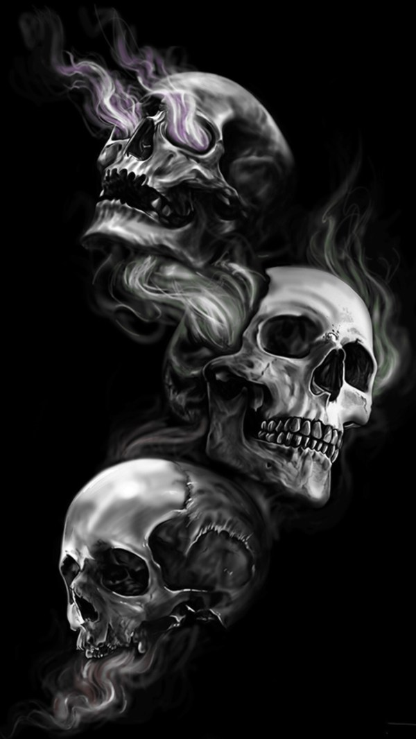 Badass Wallpapers Android 04 0f 40 Three Skulls