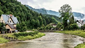 Beautiful Nature Wallpaper Big Size #18 with Village View in Szczawnica