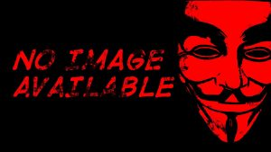 Red Anonymous Mask Wallpaper