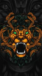 Badass Wallpapers For Android 20 0f 40 - Animated Lion and Snakes