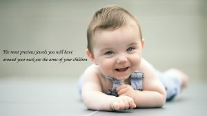 baby images with quotes for Wallpaper