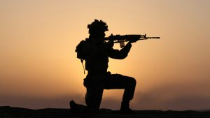 Indian Army Wallpaper with Soldier in Silhouette