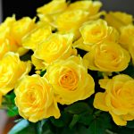 Yellow Rose Flower Arrangements in Vase