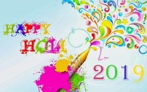 Colorful Abstract Happy Holi 2019 Wallpaper