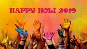 Happy Holi 2019 Background for Desktop Background