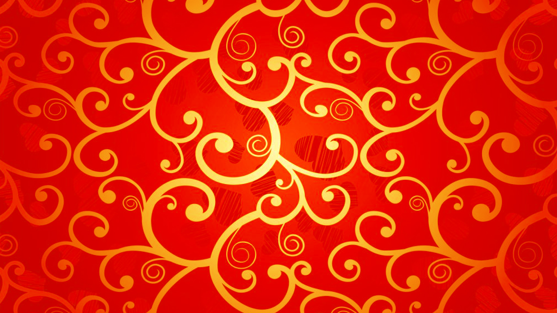 Red Chinese Wallpaper Designs 15 of 20 with Gold Floral