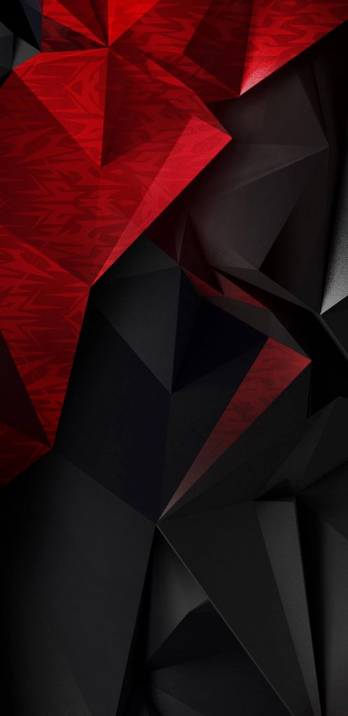 Iphone X Cool Wallpaper Features Abstract 3d Red And Black Polygons For Samsung Galaxy S9