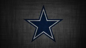 Dallas Cowboys Logo Wallpaper in HD 1080p with Dark Grey Pattern
