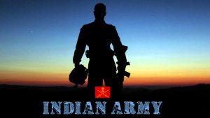 Indian Army HD Wallpapers 1080p Download with Picture of Soldier in Silhouette