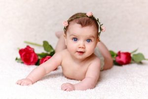 Top 25 Pictures Of Red Roses - #01 - with Cute Baby