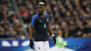 Paul Pogba with 2018 France Football Team Jersey for World Cup