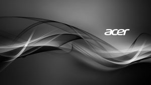 Acer Laptop Background with Abstract Grayscale Lights