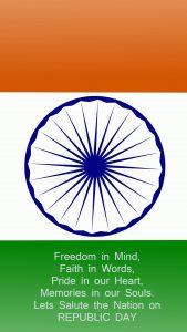 Happy Republic Day Wallpaper for Mobile with Greeting Text